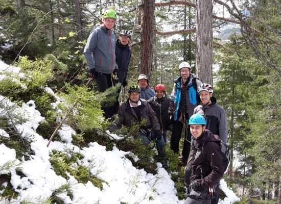 Schulungszentrum-IT-Treffen-Klettersteig-Gruppe